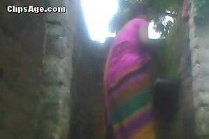 Indian village aunty washroom