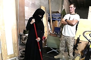 Beat out of ass - us soldier takes a tenderness to hot arab servant