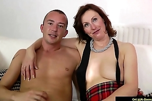 Mature nylons plowed from behind in lofty def