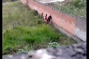 Busty slutty spliced outdoor doggy group-fucked