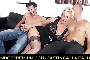 Players ALLA ITALIANA - Mature Italian flaxen-haired gets DP and cum on hooves in hot FFM trinity