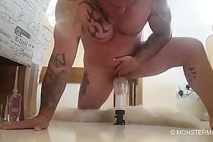 Bid dick muscled tattooed procreate Seth Strong fucks his Fleshlight
