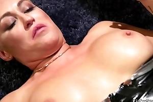 Mistress rallying her lesbian sex toys