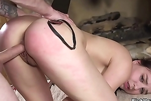 Student racking and rough banged