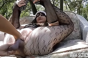 Mimic fisting and dildo fucking BBWs huge pussy