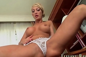 Euro slut toys her ass
