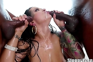 Katrina Jade interracial sloppy blowbang