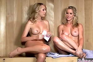 (Ainsley Addison, Brett Rossi) vice-chancellor at Hello Southern Belle - Twistys