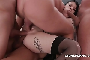 My Prime TP Mallory Maneater gets 4on1 Balls Deep Anal, DAP, TP, Creampie Dinner party