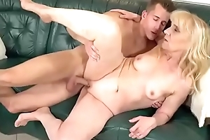 Old bag is having passionate sex less nextdoor young student