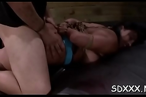 Infirm hottie gets mercilessly stuffed with sextoys