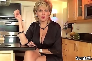 Big Daddy english milf lady sonia shows lacking her giant breasts