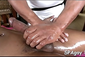 Sexual massage with dreadful anal fingering session