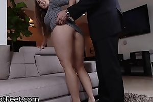 Busty Babe Lena Paul Gets Cummy Feet After Fuck