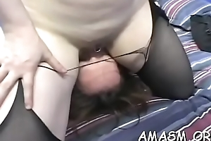 Lustful woman enjoys real femdom with humiliation