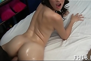 Naughty hottie fucks plus gives a hot massage!
