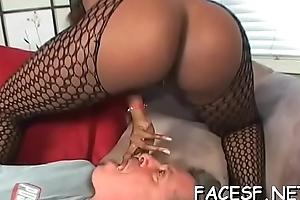 Hot darksome girl makes white dude'_s wazoo fetisj consent true to life