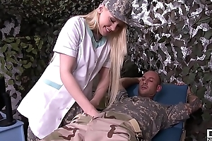 Sexy Military Falsify Lola Taylor Gets Her Selfish Asshole Licked and Fucked