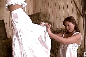 Frying Country Maidens Alysa &_ Jessie Volt Get Their Tight Assholes Gaped