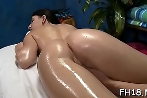Beautiful all natural fucked at the end of one's tether massagist
