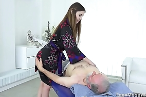 Old-n-young.com - elle rose - thrilling full piecing together massage