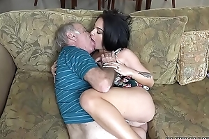 Old fellows love shagging nubiles
