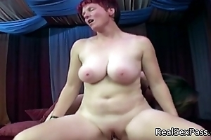 Three bulky matures spellbinding one lady's man
