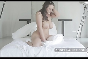Big tit australian angela white masturbating together with pillow riding