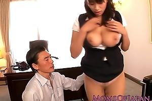 Japanese older hana haruna spanked