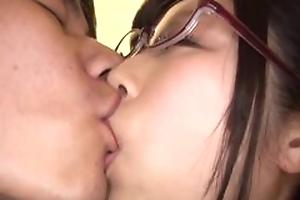 Japanese Asian AV idol Katou Honoka fuck respecting glasses