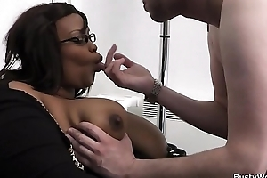 Office sexual relations helter-skelter big bowels ebony woman